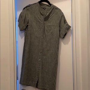 Vince grey linen t-shirt dress size xs